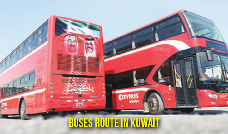 Kuwait City Bus 102 Route Map KPTC bus route map KPTC 999