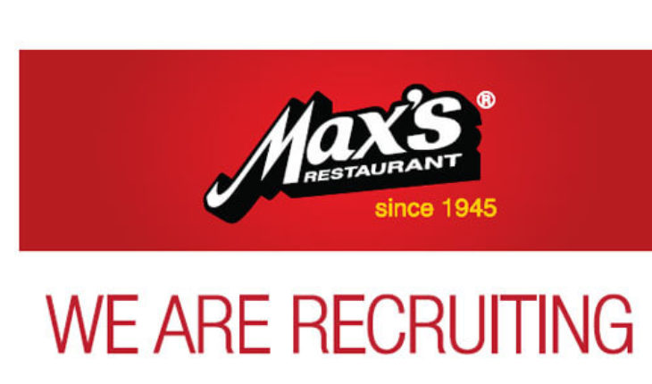 JOB HIRING - Maxs Restaurant Kuwait Walk-In Interview