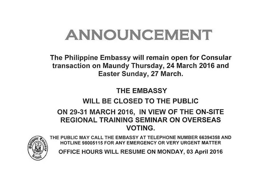 Embassy Hotline Numbers for Emergency