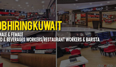 URGENT HIRING 90 MALE FEMALE FOOD BEVERAGES WORKERS RESTAURANT BARISTA